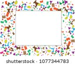 abstract background for summer... | Shutterstock .eps vector #1077344783