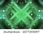 abstract green fractal... | Shutterstock . vector #1077355097