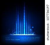 illustration of binary code on...   Shutterstock .eps vector #107736197