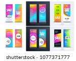 sale banner. abstract business... | Shutterstock .eps vector #1077371777