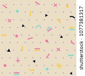pattern seamless memphis retro... | Shutterstock .eps vector #1077381317