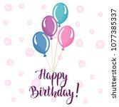 happy birthday banner. greeting ...   Shutterstock .eps vector #1077385337