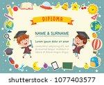 vector illustration of kids... | Shutterstock .eps vector #1077403577