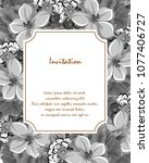 beautiful grey floral frame.... | Shutterstock .eps vector #1077406727