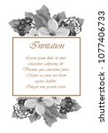beautiful grey floral frame.... | Shutterstock .eps vector #1077406733