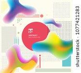 abstract modern art geometric... | Shutterstock .eps vector #1077421283