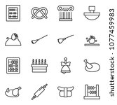 flat vector icon set   abacus... | Shutterstock .eps vector #1077459983