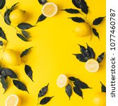 creative summer pattern made of ... | Shutterstock . vector #1077460787