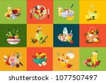 flat vector compositions with... | Shutterstock .eps vector #1077507497