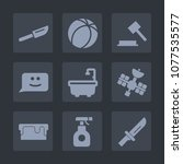 premium set of fill icons. such ...   Shutterstock .eps vector #1077535577