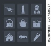 premium set of fill icons. such ... | Shutterstock .eps vector #1077535787