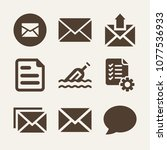 note filled vector icon set on... | Shutterstock .eps vector #1077536933