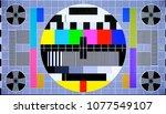 tv multi colored test pattern... | Shutterstock . vector #1077549107
