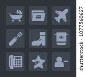 premium set of fill icons. such ...   Shutterstock .eps vector #1077560627