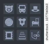 premium set of fill icons. such ... | Shutterstock .eps vector #1077560663