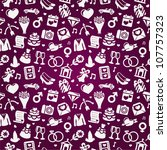 wedding seamless pattern   pink ... | Shutterstock .eps vector #107757323