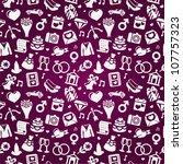 wedding seamless pattern   pink ... | Shutterstock .eps vector #107757323