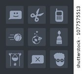 premium set of fill icons. such ...   Shutterstock .eps vector #1077575513