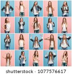 the collage of different human...   Shutterstock . vector #1077576617