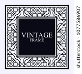 vintage ornamental decorative... | Shutterstock .eps vector #1077586907