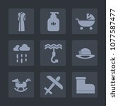 premium set of fill icons. such ...   Shutterstock .eps vector #1077587477