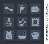premium set of fill icons. such ...