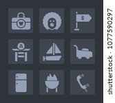 premium set of fill icons. such ... | Shutterstock .eps vector #1077590297