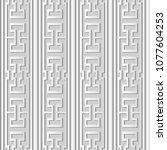 3d white paper art polygon... | Shutterstock .eps vector #1077604253