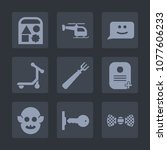 premium set of fill icons. such ...   Shutterstock .eps vector #1077606233