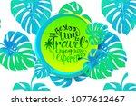 travel time banner with...   Shutterstock .eps vector #1077612467