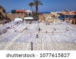 jaffa  israel april 06  2018  ... | Shutterstock . vector #1077615827