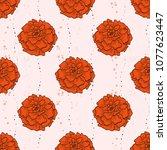 vector color seamless pattern... | Shutterstock .eps vector #1077623447