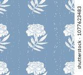 vector seamless pattern of... | Shutterstock .eps vector #1077623483