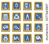 measure precision icons set... | Shutterstock .eps vector #1077665807