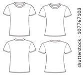 blank t shirts template | Shutterstock .eps vector #107767103