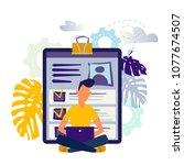 vector illustration design... | Shutterstock .eps vector #1077674507