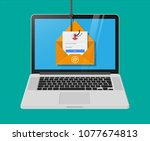 login into account in email... | Shutterstock .eps vector #1077674813