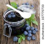 blueberry jam | Shutterstock . vector #107770733