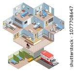 medical equipment isometric...   Shutterstock .eps vector #1077708647
