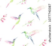 seamless pattern with hand... | Shutterstock . vector #1077740387