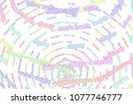 colorful 3d rendering. cgi... | Shutterstock . vector #1077746777