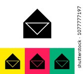 message letter icon vector | Shutterstock .eps vector #1077777197