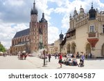 krakow  poland   august 27 ... | Shutterstock . vector #1077804587