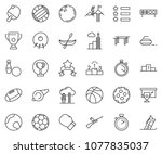 thin line icon set   success... | Shutterstock .eps vector #1077835037