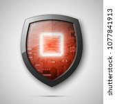 protected guard shield circuit... | Shutterstock .eps vector #1077841913