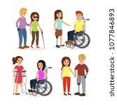 vector illustration set of... | Shutterstock .eps vector #1077846893