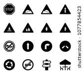 solid vector icon set   stop... | Shutterstock .eps vector #1077854423