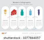 infographics design vector and  ... | Shutterstock .eps vector #1077866057