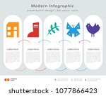 infographics design vector and  ... | Shutterstock .eps vector #1077866423