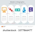 infographics design vector and... | Shutterstock .eps vector #1077866477